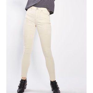 Topshop Raw Hem Leigh Skinny Jeans